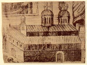 Ιερά Μονή του Τιμίου Προδρόμου το 1767 (χαλκογραφία εποχής)